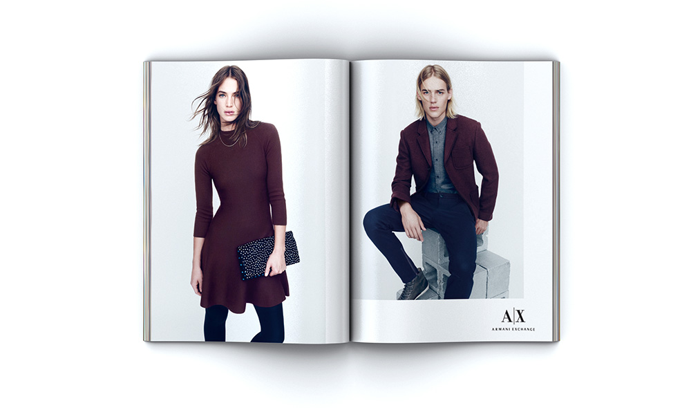 Armani Exchange Holiday 2014 Advertising Campaign